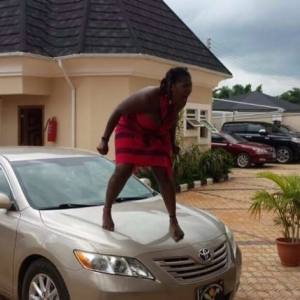 Lol!! Mercy Johnson Goes Nuts On Set Of New Movie [See Photos]